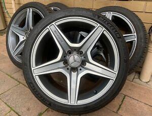 "Genuine Mercedes Benz C63 W204 18"" Wheels Rims TYRES - STAGGERED SET"