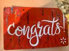 "WALMART GIFT CARD , ""Congrats"", NO VALUE For Sale"