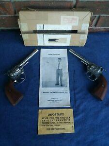 RARE SET OF VINTAGE 1950's SPATZ (HUBLEY) BB TARGET PISTOLS WITH BOX MANUAL