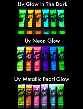 Uv Neon Glow Face Paint Uv Metallic Pearl Set Glow In The dark Set
