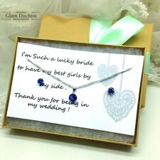 Royal Blue wedding Jewelry Set bridesmaid gift idea necklace earrings jewelry