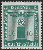 Stamp Germany Official Mi 162 Sc S19 1942 WWII Dienst Occupation Franchise MNH
