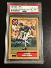 Autographed Greg Maddux 1987 Topps Traded Rookie Card PSA certified signed