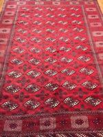 8' x 11' Turkeman Oriental Rug - 1950s - Hand Made - 100% Wool Pile