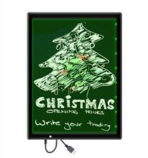 LED writing board 33x24cm Light panel with USB cable for drawing illuminated UK