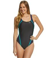 Speedo Quantum Splice One Piece Swimsuit Size 8 Black/Multicolor 10324