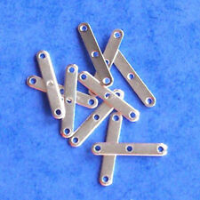 10 silver plated 3-hole spacer bars, jewellery findings