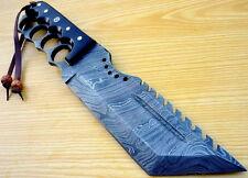 CUSTOM DAMASCUS STEEL HUNTING TRACKER KNIFE / BOWIE / DAGGER / SWORD / BUFFALO H