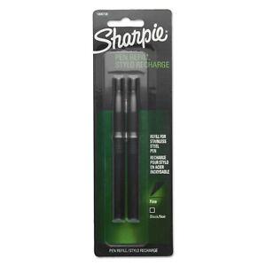 Sharpie Refill for Stainless Steel Pen, Fine, Black, 2/Pack
