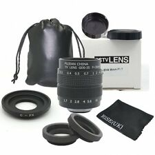 Fujian 35mm f/1.7 CCTV cine lens for Fuji Fujifilm X-Pro1camera & Adapter bundle