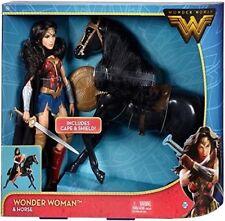 DC Comics Wonder Woman und Pferd Puppe Figur Mattel Barbie Sammlerpuppe