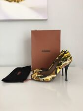 NWB MISSONI VELVET PAISLEY PATTERN ROUND TOE HEELS SIZE 39 MADE IN ITALY
