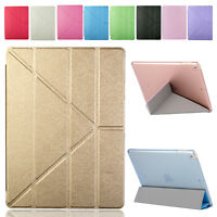 For New Apple iPad 9.7 2017 Fashion Slim Flip Leather Wake Asleep Stand Case