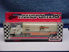 MATCHBOX SUPER STAR TRANSPORTERS SEMI-TRUCK HOOTERS FORD #7 CAR RACING 1992