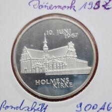 """Dänemark: """"Holmens Kirke"""" 1992 Silber, PP-Proof, #F0873 extrem rare"""