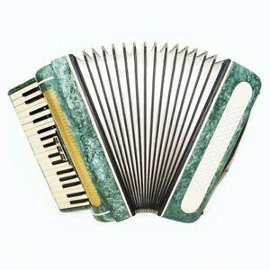 Russian Piano Accordion Volna for Beginner Children Kids 80 Bass New Straps 1576
