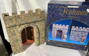 "Fontanini Heirloom ~ CITY WALLS  ~ Lighted City Gate For 5"" Nativity #94803 NEW"