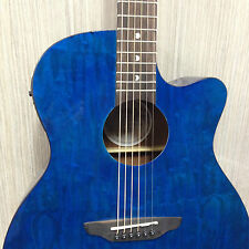 Gypsy Series Quilted Ash 4/4 Acoustic-Electric Guitar Teal Gloss GYP E QA TEAL