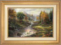 Thomas Kinkade Reflections of Family 24 x 36 Limited Edition S/N Canvas