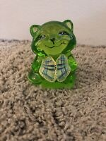 FENTON RACCOON KEY LIME HAND PAINTED VEST QVC