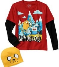 Adventure Time Long Sleeve T-Shirt Size 8 M Childs New w Beanie Hat CN Medium