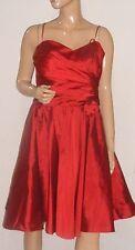JS COLLECTIONS RED TAFFETA SPAGHETTI STRAP COCKTAIL   DRESS NEW SZ 12