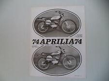 advertising Pubblicità 1974 MOTO APRILIA SCARABEO 50 CROSS