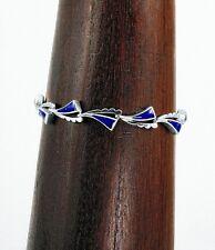 Artisan Sterling Silver Blue Lapis Waves Bracelet