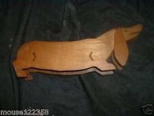 Dachund Wood dog  Figure   weiner dog