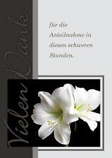 Danksagungskarten mit Kuvert Trauer Karten Trauerkarten Trauerfall Danksagungen