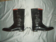 Antique leather riding military boots with spurs size 9s PEAL & Co