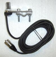 CB Radio Antenna Mirror Arm Mounting Bracket, 3M RG58 & PL259