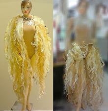 Da NeeNa C003 Organza Prom Drag Seaweed Two-Way Ruffle Jacket / Skirt