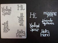 Cuttlebug Die Cutter FRIENDS PHRASES fits Sizzix machine