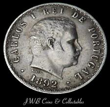 1892 Plata 500 reis moneda de Portugal