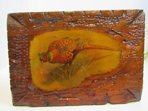 Vintage Art Of Pheasant  Laquet Art.