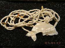 @@@Wunderschöne Perlenkette mit Perlmutt Delphien @@@