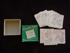 >orig. 1950's CHUCKLE NAPS *Mirth-Provoking* Humorous Cocktail Napkins in Box