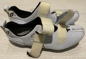 Gaerne Cycling Shoes White Size 42 1/2 Made In Italy Triathlon Road