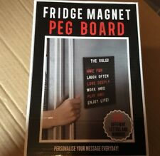 FRIDGE MAGNET PEG BOARD Message Magnetic, 350 LETTERS/NUMBERS, NEW BOXED A5