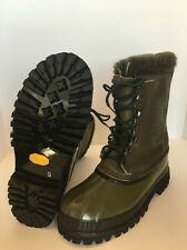 WOW Mint! Rare Canada SOREL STAG Vintage Acetate Wool Leather Winter Boots Camo