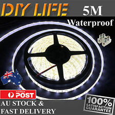12V Cool White 3528 SMD 300 LED Strips 5M Led Strip Lights Waterproof car boat