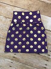 Purple and Gold polka dot pencil skirt - girls toddler birthday skirt New