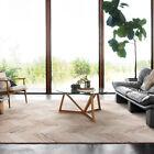 Natural Beige Wool Floor Rug Geometric Herringbone Modern Carpet 160x230cm