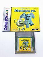 Disney Pixar Monsters Inc - Game Boy Color Game