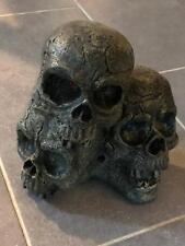Aged Skeleton Skull Pile by Gemmy Motion Activated Creepy Sounds Halloween Prop