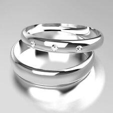 Very Good Cut Round White Gold Band Fine Diamond Rings
