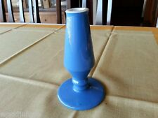 MID CENTURY MODERN BLUE HALL CHINA BUD VASE  AMTRAK 1726 RAILROAD perwinkle