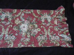 Ralph Lauren Danielle Floral Marseilles STD Pillow case Pair Ruffle Red Gold