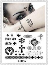 Heart Brand Temporary Tattoo Sticker DIY Keep 3-5 days Waterproof 14x9cm TS059
